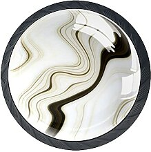 Schubladenknäufe, abstrakt, beige, Glas,