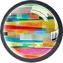 Schubladenknäufe, abstraktes Muster, Glas,