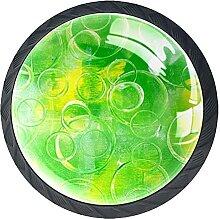 Schubladenknäufe, grüne Textur, Glas, rund,