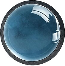 Schubladenknäufe, marineblauer Hintergrund, Glas,