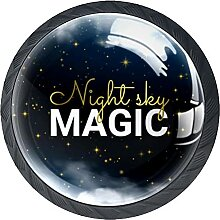 Schubladenknäufe Nachthimmel Bild Schrank