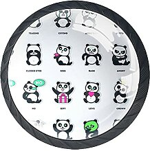Schubladenknäufe, niedlicher Panda, in