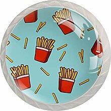 Schubladenknäufe, rund, Glas, mit Schrauben,