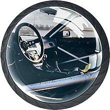 Schubladenknauf, 35 mm, Glas, für Auto, Lenkrad,