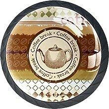 Schubladenknauf, 35 mm, Glas, für Kaffeekanne,