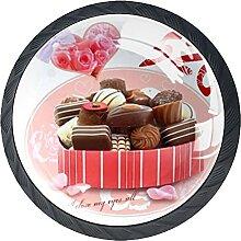 Schubladenknauf, 35 mm, Glas, für Valentinstag,