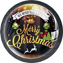 Schubladenknauf, 35 mm, Glas, mit weihnachtlichem