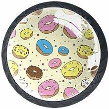 Schubladenknauf aus Glas, rund, mit Schrauben,