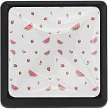 Schubladenknauf mit Wassermelonen-Muster, 3 Stück