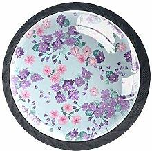 Schubladenknauf, rund, Glas, mit Schrauben, für