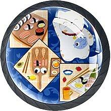 Schubladenknauf, Ziehgriff, 35 mm, Glas, Sushi-