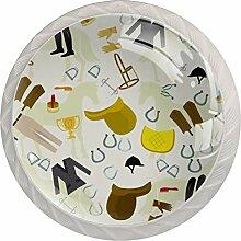 Schubladenknöpfe aus ABS-Glas, 4 Stück