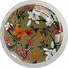 Schubladenknöpfe aus Glas, für Kommoden,
