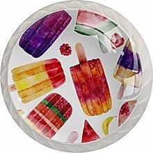 Schubladenknöpfe aus Glas, für Schränke,