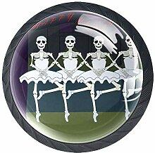 Schubladenknöpfe aus Glas mit Halloween-Motiv,
