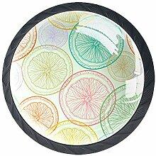 Schubladenknöpfe aus Glas, rund, mit Schrauben, 4