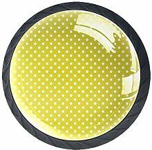 Schubladenknöpfe aus Glas, rund, mit Schrauben,