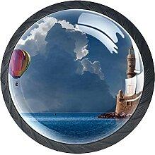 Schubladenknöpfe Ballon Leuchtturm Schrank