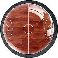 Schubladenknöpfe Basketballplatz Schrank