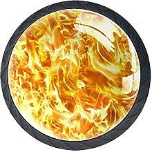 Schubladenknöpfe Blaze Feuerflamme Textur Glas