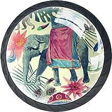 Schubladenknöpfe Elefant Affe Pfau Kuh Glas Pull