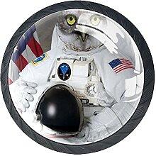 Schubladenknöpfe Eule Astronaut Schrank Schublade