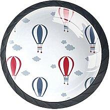 Schubladenknöpfe Heißluftballon Schrank