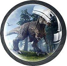 Schubladenknöpfe Jurassic Dinosaurier Schrank