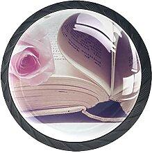 Schubladenknöpfe Love Literature Schrank
