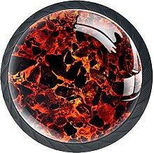 Schubladenknöpfe Magma Hintergrund Schrank