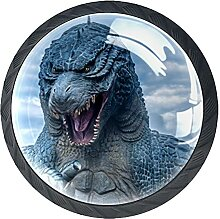 Schubladenknöpfe Monster Dinosaurier Schrank
