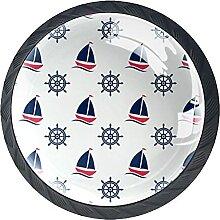 Schubladenknöpfe Segelboot und Ruder Schrank