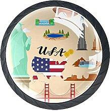 Schubladenknöpfe Tourist United State of America