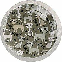 Schubladenknopf Gato de dibujos animados 01