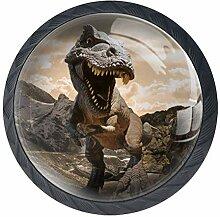 Schubladenknopf Zuggriff Dinosaurier Modell auf