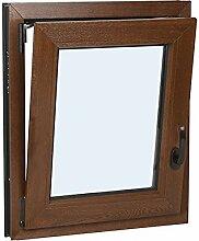 Schüco - Fenster PVC Glas climalit oscillo-battant - Weiß E Farbe Holz