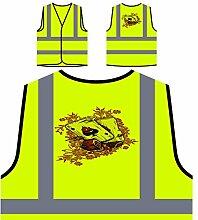 Schürhaken ases Kasinokarten lustige Neuheitkunst Personalisierte High Visibility Gelbe Sicherheitsjacke Weste ss80v