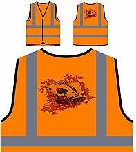 Schürhaken ases Kasinokarten lustige Neuheitkunst Personalisierte High Visibility Orange Sicherheitsjacke Weste ss80vo
