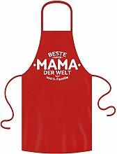 Schürze Frau Geschenkidee Motiv Beste Mama der Welt Geburtstagsgeschenk, zum Muttertag, Grillschürze, Küchenschürze in Einheitsgröße Farbe:ro