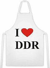 Schürze Motiv I Love DDR