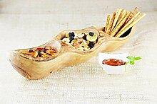 Schüssel aus Olivenholz, 3 Abschnitte, für