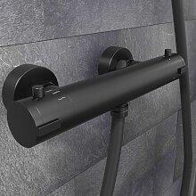 SCHÜTTE Thermostat-Duscharmatur LONDON Schwarz