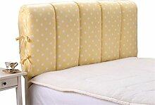 Schützen Sie die Taille lässigen Kissen Bett große Kissen abnehmbare und waschbare Doppelbett zurück Kissen Lendenwirbelstütze Bedside Rückenlehne Nachttisch, gelb weiß Punkt QLDX-Cushions ( größe : 90*60cm )
