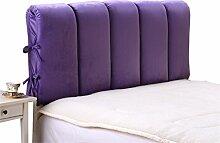 Schützen Sie die Taille lässigen Kissen Bett große Kissen abnehmbare und waschbare Doppelbett zurück Kissen Lendenwirbelstütze Bedside Rückenlehne Nachttisch, lila QLDX-Cushions ( größe : 190*60cm )