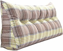 Schützen Sie die Taille lässigen Kissen Doppelbett Großes Dreieck Kissen / Kissen mit abnehmbarem Bezug, im Bett / Sofa / Büro / Haus / Auto, das für Lenden- / Rückenlehne / Lesekissen, Brown Green Lines verwendet werden kann QLDX-Cushions ( größe : 180*50*20cm )