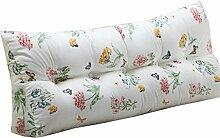 Schützen Sie die Taille lässigen Kissen Doppelbett Großes Dreieck Kissen / Kissen mit abnehmbarem Bezug, im Bett / Sofa / Büro / Haus / Auto, die für Lenden- / Rückenlehne / Lesekissen, weißes Blumen verwendet werden kann QLDX-Cushions ( größe : 180*50*22cm )