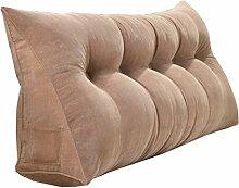 Schützen Sie die Taille lässigen Kissen Doppelbett Großes Dreieck Kissen / Kissen mit abnehmbarem Bezug, im Bett / Sofa / Büro / Haus / Auto, die für Lenden- / Rückenlehne / Lesekissen verwendet werden kann, braun QLDX-Cushions ( größe : 150*50*20cm )