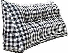 Schützen Sie die Taille lässigen Kissen Doppelbett Großes Dreieck Kissen / Kissen mit abnehmbarem Bezug, im Bett / Sofa / Büro / Haus / Auto, die für Lenden- / Rückenlehne / Lesekissen, Schwarz-Weiß-Gitter verwendet werden kann QLDX-Cushions ( größe : 90*50*20cm )