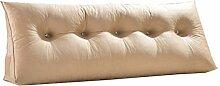 Schützen Sie die Taille lässigen Kissen Doppelbett Großes Dreieck Kissen / Kissen mit abnehmbarem Bezug, im Bett / Sofa / Büro / Haus / Auto, die für Lenden- / Rückenlehne / Lesekissen, cremeweiß verwendet werden kann QLDX-Cushions ( größe : 120*50*20cm )