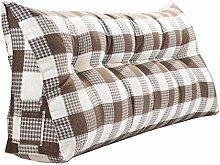 Schützen Sie die Taille lässigen Kissen Doppelbett Großes Dreieck Kissen / Kissen mit abnehmbarem Bezug, im Bett / Sofa / Büro / Haus / Auto, die für Lenden- / Rückenlehne / Lesekissen, Braunes Weißgitter verwendet werden kann QLDX-Cushions ( größe : 180*50*20cm )